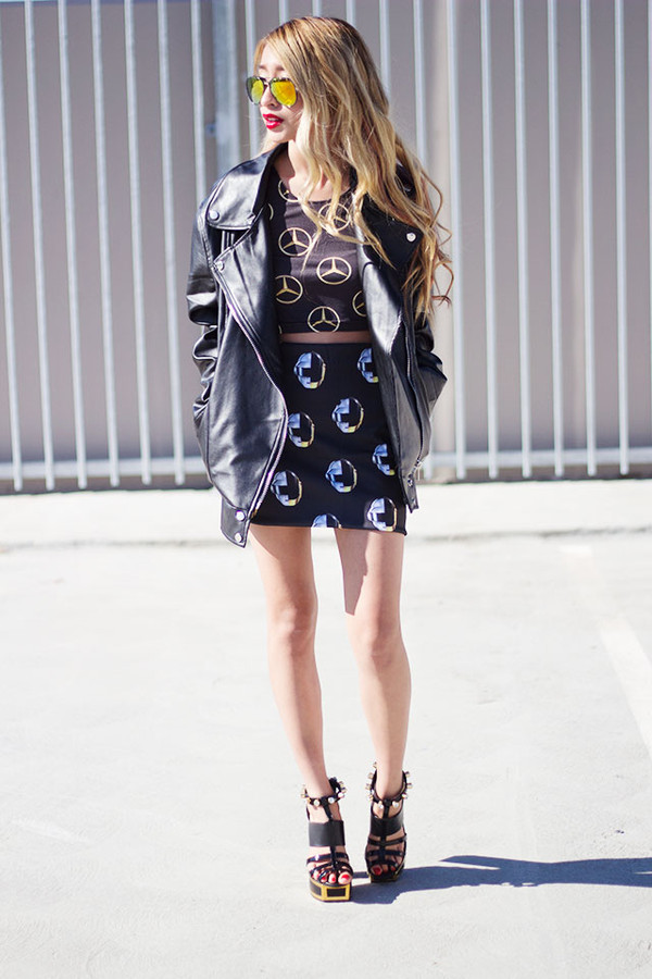 style2bones t-shirt skirt jacket shoes