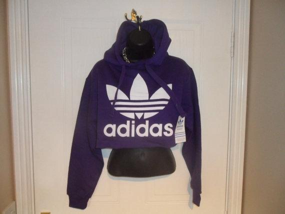 unisex customised adidas  cropped sweatshirt by mysticclothing