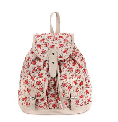 All-match Floral Backpack on Luulla