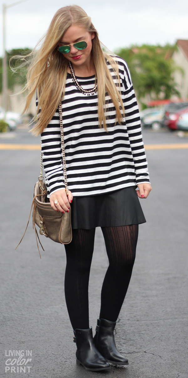 living in color print skirt sweater shoes sunglasses