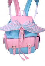 Winged Baby Pink Sid Backpack | Lostmannequin