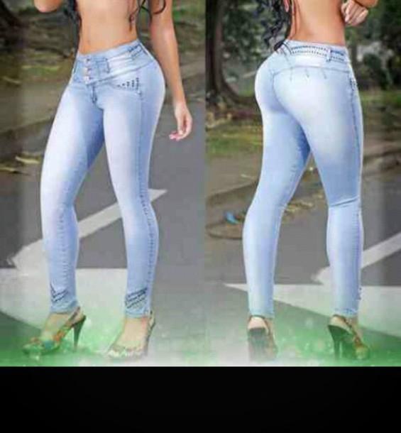jeans light blue colombian jeans