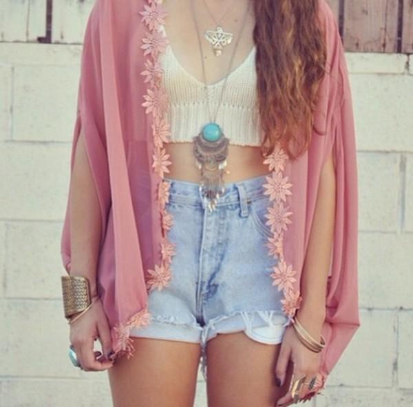 blouse tank top jewels shorts sweater