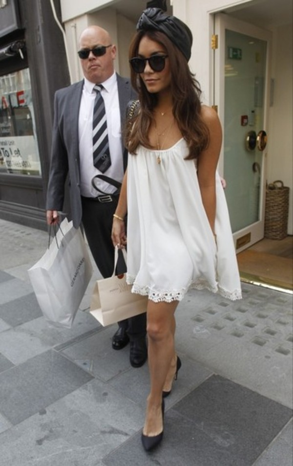 dress vanessa hudgens vanessa hudgens white dress girly