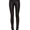Women punk tight skinny black faux leather pant