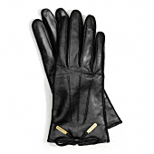 Coach :: LEATHER BOW GLOVE