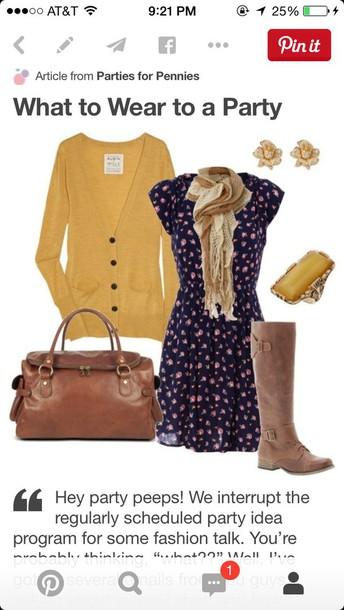 dress cardigan scarf jewels