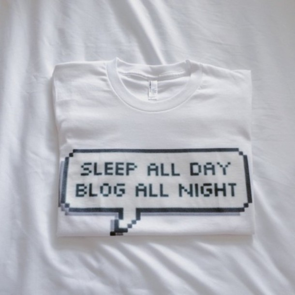 t-shirt blog sleep basic all day