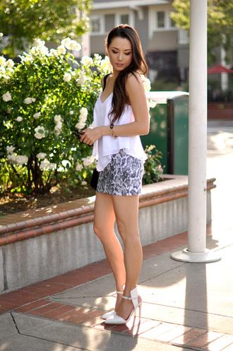 hapa time t-shirt skirt jewels shoes bag sunglasses shorts fashion style lace shorts lace bustier bustier heels white crop tops white lace shorts high heels