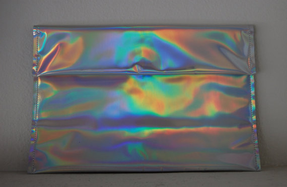 Holographic Clutch by SicTransitGloriaa on Etsy