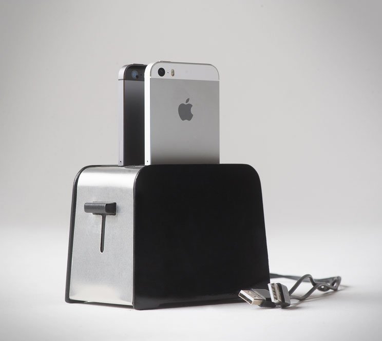 Foaster: A Toaster Shaped iPhone Charger