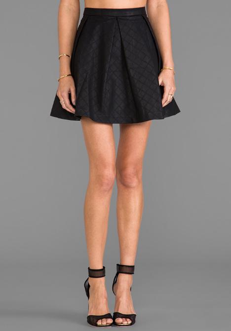 DV by DOLCE VITA Marin Faux Leather Skirt in Black - Dolce Vita