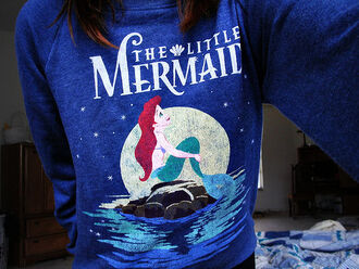 sweater disney clothes forever 21 jumper the little mermaid shirt little mermaid sweatshirt