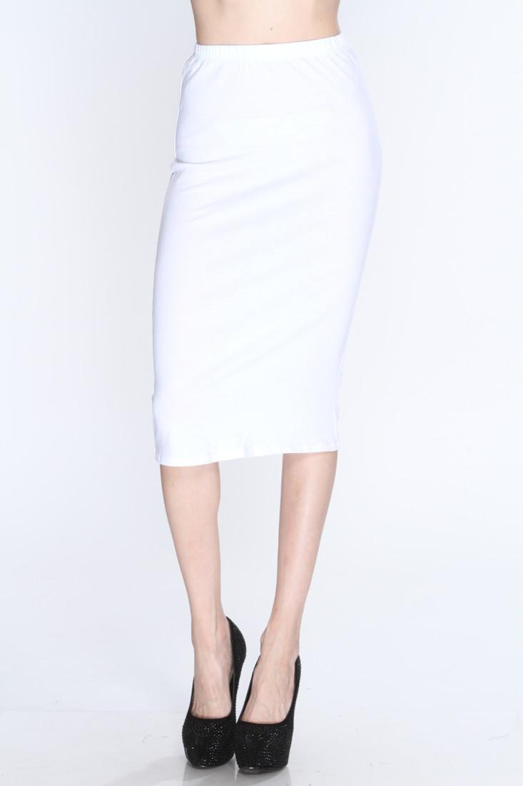 White High Waist Sexy Pencil Skirt