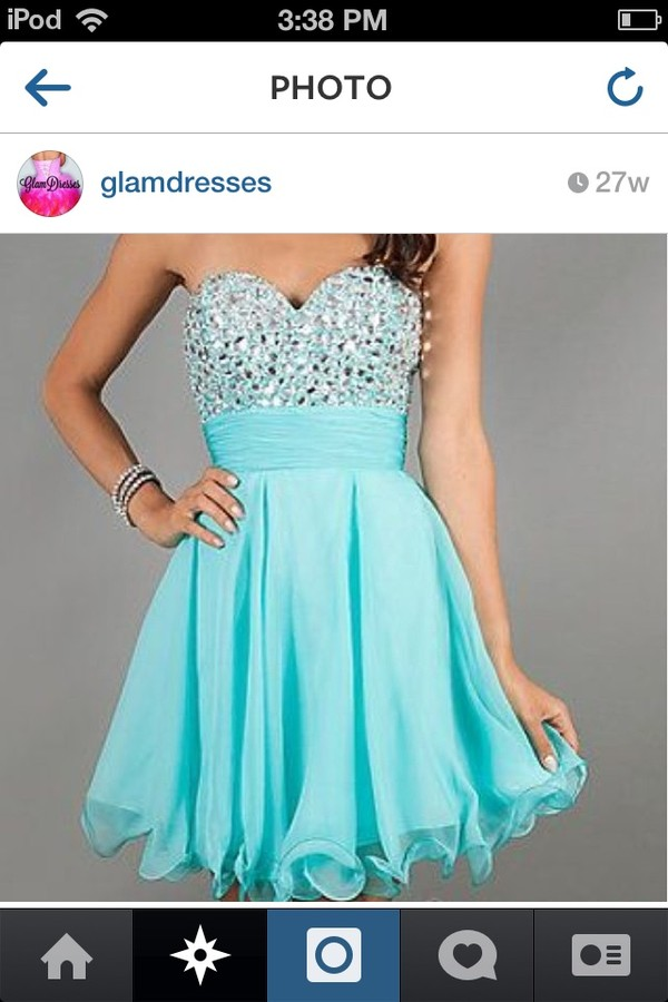 dress sequins blue silver homecoming flowy