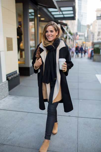 gal meets glam blogger coat scarf ankle boots winter outfits