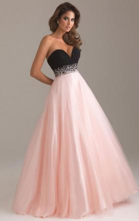 Hot Tulle A-line Strapless Sweetheart Empire Long Prom Dress Online KissyDress UK