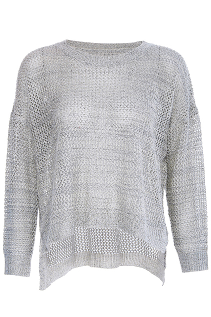 ROMWE | Hollow-out Batwing-sleeve Apricot Jumper, The Latest Street Fashion