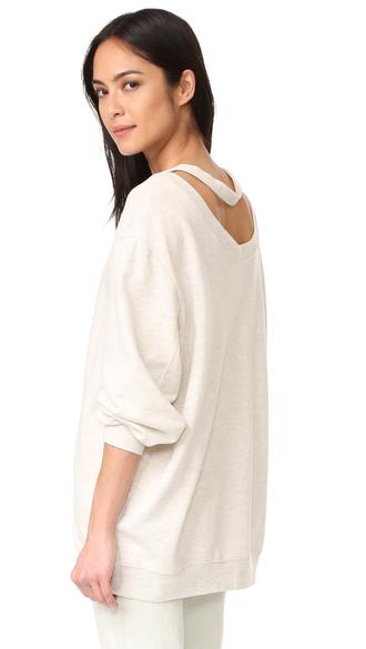 sweater fashion clothes cheap monday blitz sweatshirt french terry round neckline