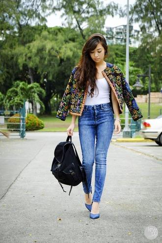 kryzuy jacket tank top jeans shoes bag jewels