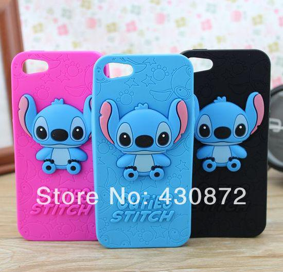 stitch phone case iphone 5s 3d stitch soft silicon for iphone 5 5s 7987