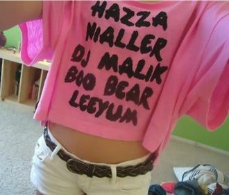 shirt pink hazza leeyum nialler boo bear dj malik
