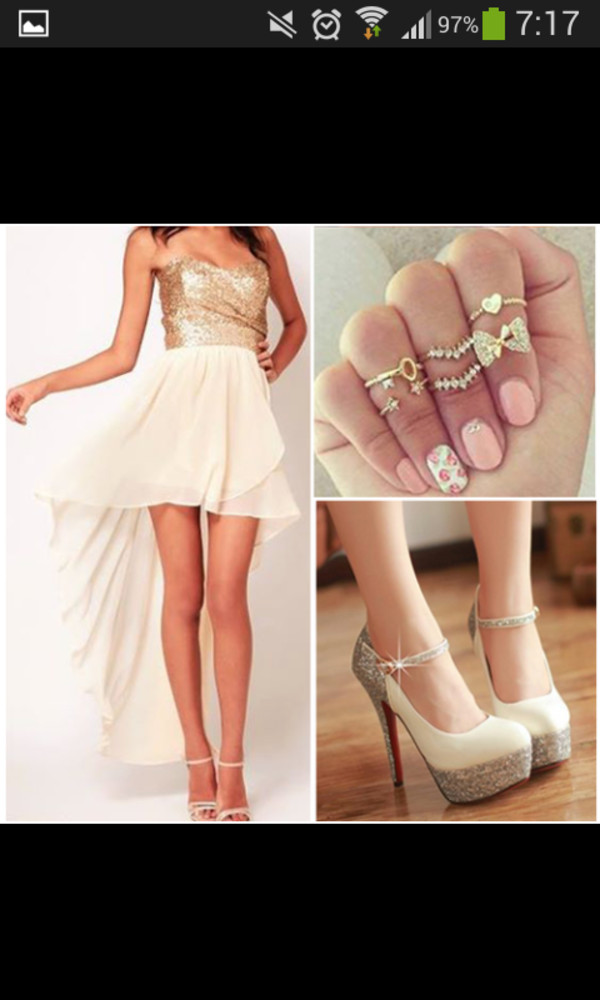 dress short long jewels shoes nail polish