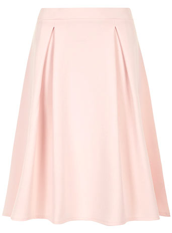 Pale pink pleated midi skirt - Skirts  - Clothing  - Dorothy Perkins