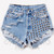 902 Vintage Half Studded Frayed Short | RUNWAYDREAMZ