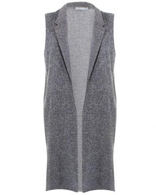 LOVE Grey Boucle Sleeveless Boyfriend Jacket - In Love With Fashion
