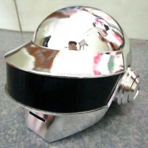 Daft Punk Thomas Silver Chrome Helmet Replica Props Dance Party Costume Cosplay | eBay