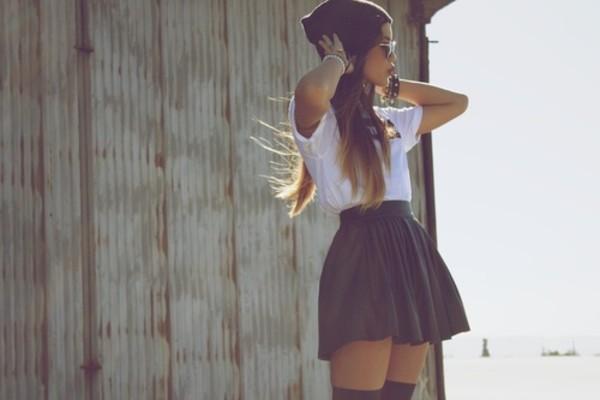 skirt leather vintage retro black skater skirt shirt shoes celebrity prett girly forever 21 american apparel la fashion district blouse dress