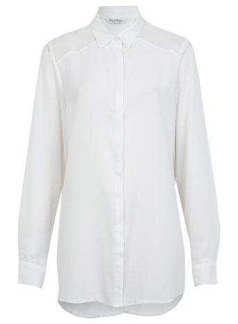 Oversized Solid Shirt - Tops  - Clothing  - Miss Selfridge
