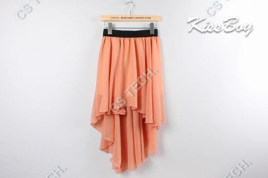 [C 358] Free Shipping New Sexy Hem Chiffon Skirt Ladies Long Maxi Skirt Elastic Waist-in Skirts from Apparel & Accessories on Aliexpress.com