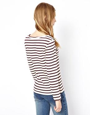 Ganni | Ganni Breton Stripe T-Shirt with Long Sleeves at ASOS