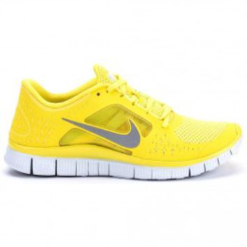 Nike Free Run  3 Men's (Yellow/White/Silver) on Wanelo