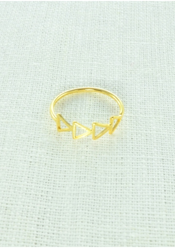 Chic Triangles Midi Ring - Happiness Boutique