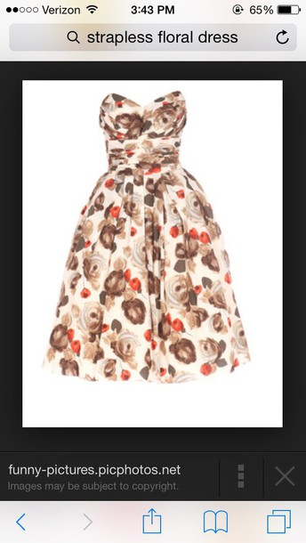 dress light brown strapless dress fit and flare dress