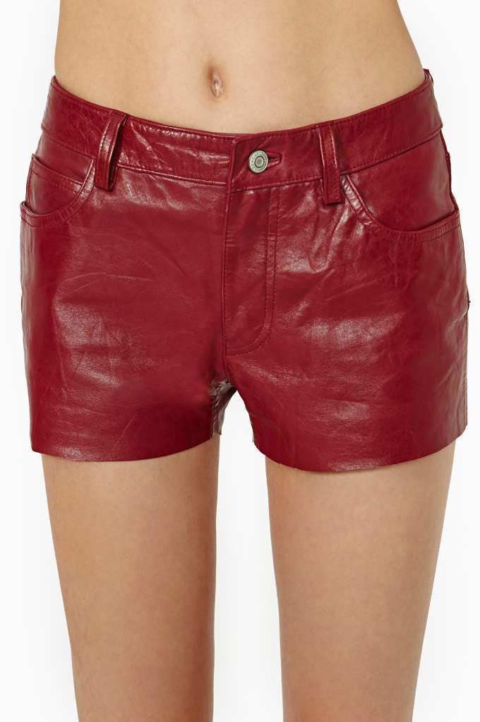 After Party Vintage Cinnamon Girl Leather Shorts | Shop Clothes at Nasty Gal