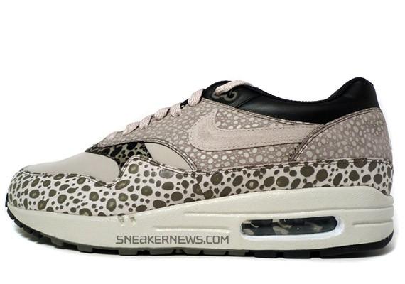 Nike Air Max 1 Premium SP - Pale Grey - Black - Safari Print - SneakerNews.com