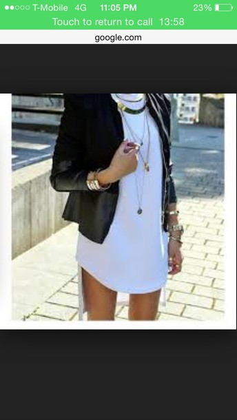 dress white dress knee length dope