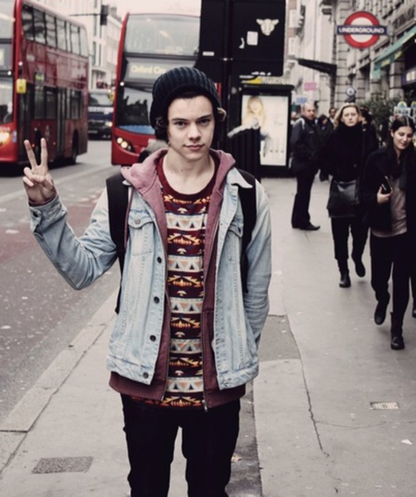 shirt harry styles jumper jersey jacket hipster sweater red stripes comfy london
