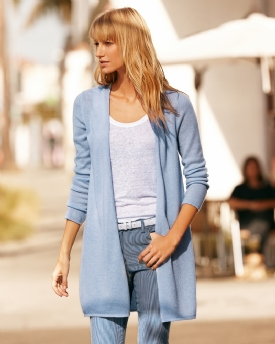 Gassato Cashmere Longline Cardigan | Cardigans | Pure Collection