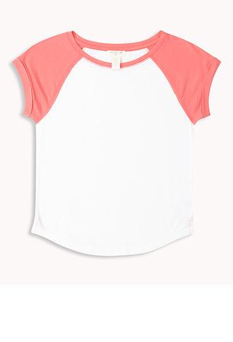 Short Sleeve Baseball Tee (Kids) | FOREVER21 girls - 2048050291