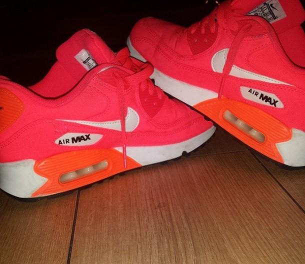 shoes pink orange