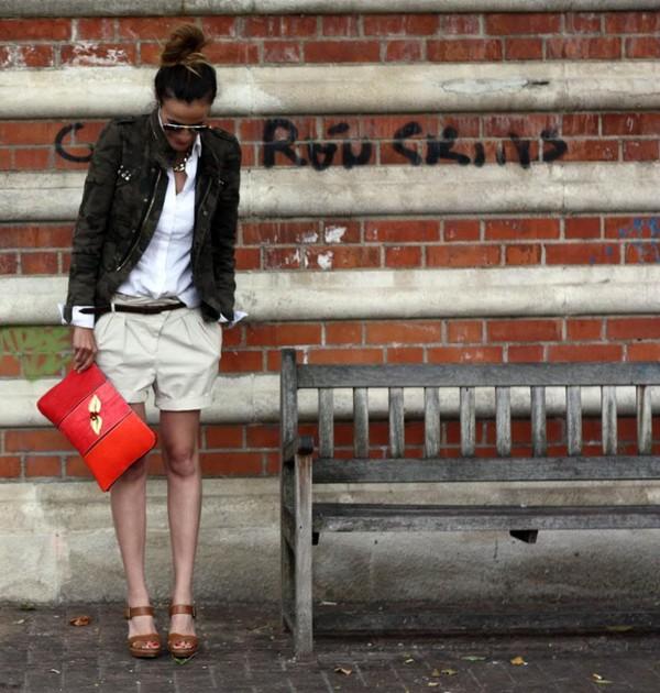 rebel attitude jacket shorts shoes shirt bag t-shirt jewels