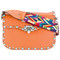 Valentino valentino garavani rockstud shoulder bag, women's, yellow/orange, calf leather/metal/plastic