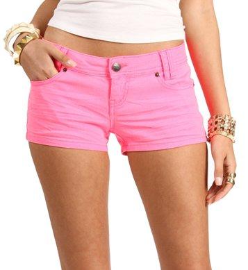 Neon Pink Shorts on Wanelo