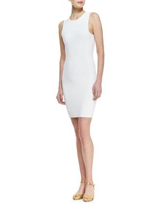 Ralph Lauren Black Label Sleeveless Sheath Ribbed Dress