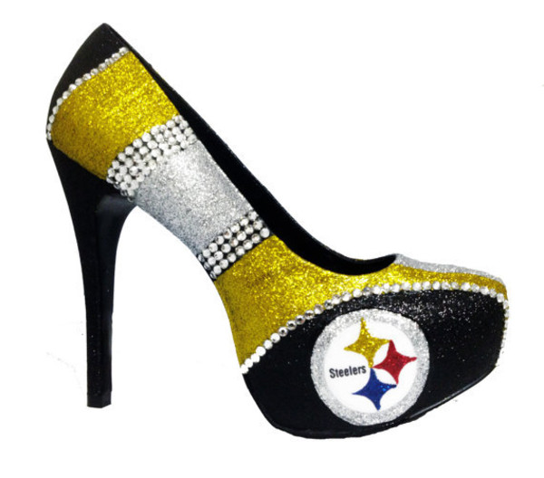 Shoes Steelers Pittsburgh Pittsburgh Steelers Steelers Heels Steelers Shoes Glitter Pumps